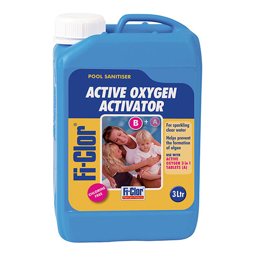 Fi-Clor Pool Sanitiser Active Oxygen Activator Liquid 3 Litres x 4