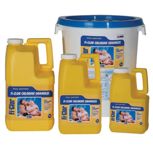 Fi-Clor Pool Sanitiser Chlorine Granules 3kg x 6