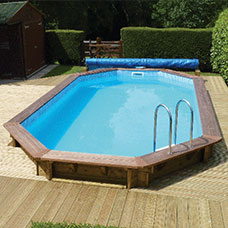 Swimmer Wooden Above Ground Swimming Pool Kit - Octagon Pool (4m)