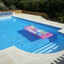 Polymer Swimming Pool Kit - Model A (6.1m x 3.05m x 1.2m) Hopper/Flat Bottom