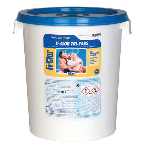 Fi-Clor Pool Sanitiser Tri-Tabs 25kg