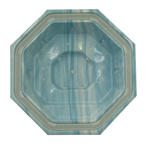 Manhattan 2.7m Plumbed Shell Octagon Luxury Spa (Seats 7 People)
