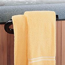 Metal Towel Bar for Spas & Hot Tubs