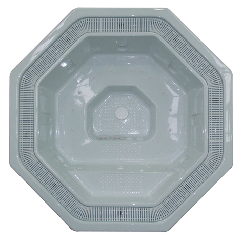 Pacific 2.4m Plumbed Shell Octagon Luxury Spa (Seats 5 People)