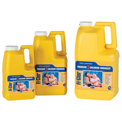 Fi-Clor Pool Sanitiser Premium 5 Granules 3kg x 6