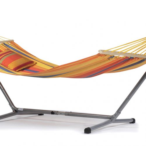 Sunset Silver Large Hammock and Stand Package