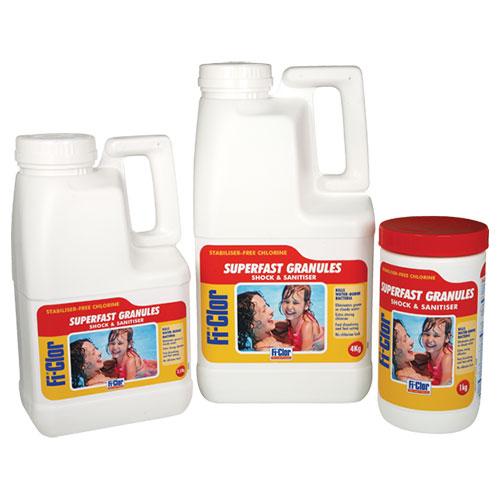 Fi-Clor Shock & Sanitiser Superfast Granules 4kg x 4
