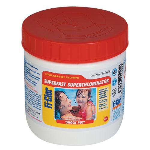 Fi-Clor Shock & Sanitiser Superchlorinator Shock Pot 450 Grams x 12