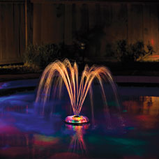 Underwater Light Show and Fountain Water Feature