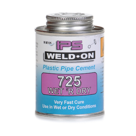 ABS and PVC Wet/Dry Fastcure Adhesive
